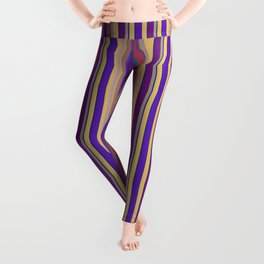 awning stripe Leggings