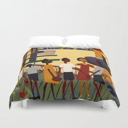 African American Masterpiece 'Ferry' NYC by William Johnson Duvet Cover