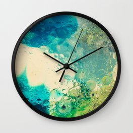 Retro Abstract Photography Underwater Bubble Design Wall Clock