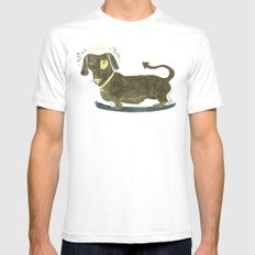 Bad Dog! (The Little Dachshund That Didn't) White Mens Fitted Tee SMALL
