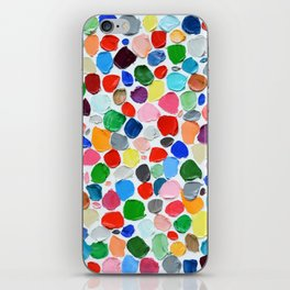 Polka Daub Pebbles iPhone Skin