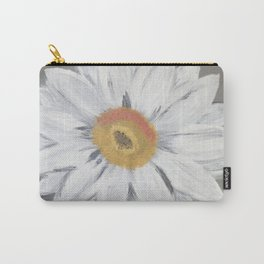 Daisy on Steel Grey Carry-All Pouch