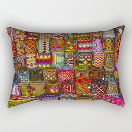Some beautiful ethnical tissues Rectangular Pillow