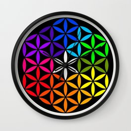 Secret flower of life Wall Clock
