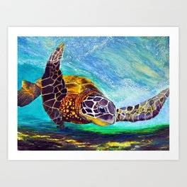 For the love of Michael Angelo Art Print