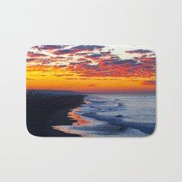 Sunrise Huntington Beach Pier   12/12/13 Bath Mat