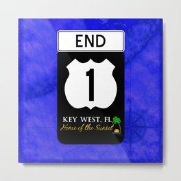 Highway A1A Sign Key West Florida  Metal Print