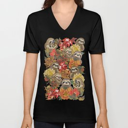 Because Sloths Autumn Unisex V-Neck