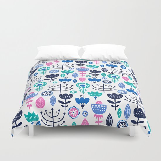 Flourish (Blues) Duvet Cover