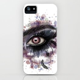 Feather eye iPhone Case