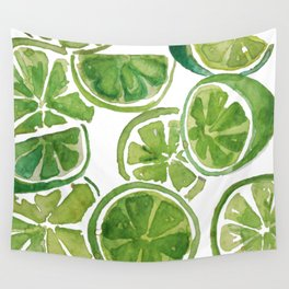 Watercolor LIMES Wall Tapestry