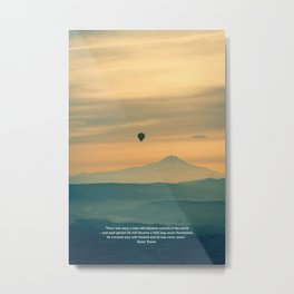 Experience travel. Alone. Metal Print