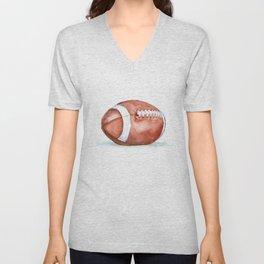 Football Watercolor Unisex V-Neck