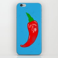 sriracha iPhone & iPod Skins featuring Chilli Sauce by Carlitos Way