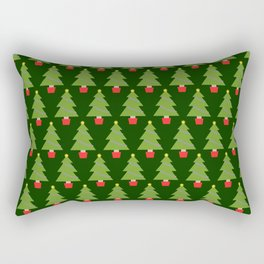 Green Christmas Trees Rectangular Pillow
