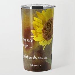 Faithful Sunflower Travel Mug