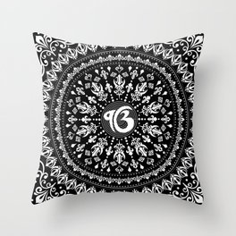 Ek Onkar / Ik Onkar Black and white #4 Throw Pillow
