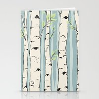 birch Stationery Cards featuring Birch by Marlene Pixley