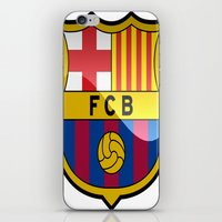 barcelona iPhone & iPod Skins featuring BARCELONA by Acus