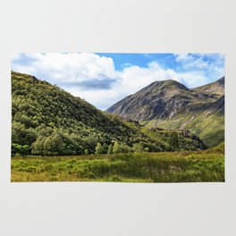 A walk in the Scottish Highlands, Glencoe. Rug