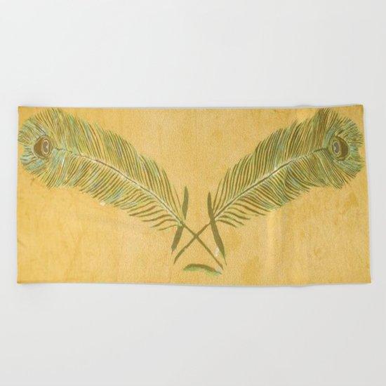 Peacock Batik Beach Towel