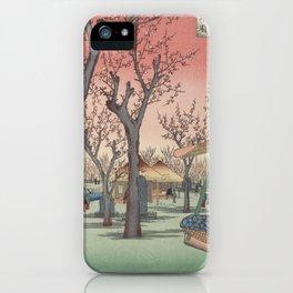 Plum Garden Kamata Ukiyo-e Japanese Art iPhone Case