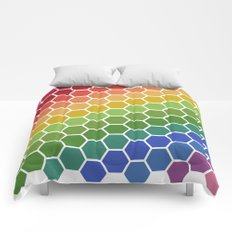 Honeycomb Rainbow Comforters