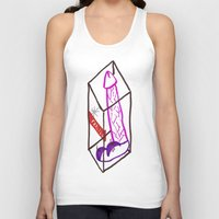 penis Tank Tops featuring Fragile (Penis in a Box) by FABIO MIGGIANO_H13