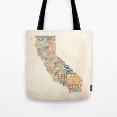 California by County Tote Bag