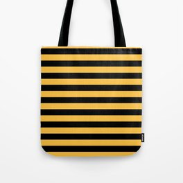 Yellow and Black Bumblebee Stripes Tote Bag