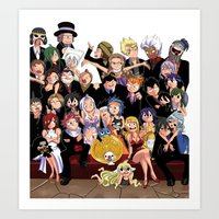 fairy tail Art Prints featuring Fairy Tail 8th Anniversary by Minty Cocoa