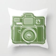 I Still Shoot Film Holga Logo - Green Throw Pillow