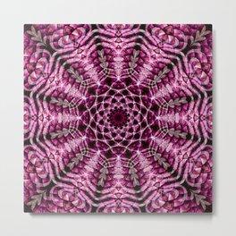 Red Scale Mandala Metal Print
