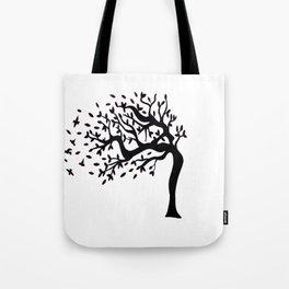 Tree Birds x2 Tote Bag