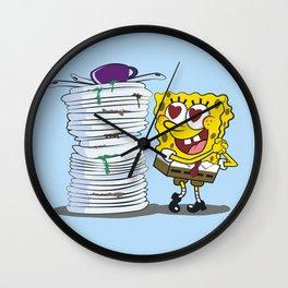 SPONGE BOB AND HIS HOBBY Wall Clock