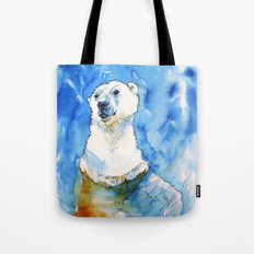 Polar Bear Inside Water Tote Bag