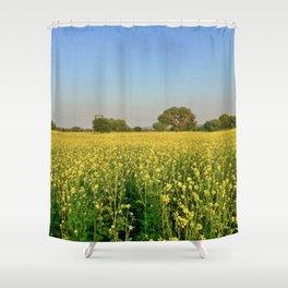 Mustard flowers Shower Curtain