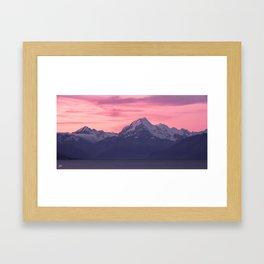 Aoraki Sunset Framed Art Print