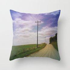 Summer Roadtrip Throw Pillow