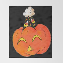 Party Pumpkin Throw Blanket