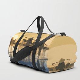 Salt Harvest in Abstract Art Duffle Bag