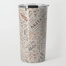 Akita dog Word Art Travel Mug