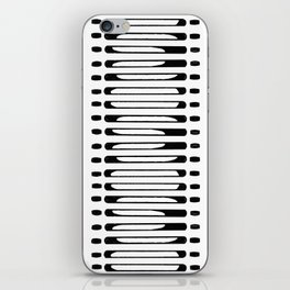 Hand Drawn Abstract- black iPhone Skin