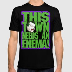 This Town Needs an Enema! Mens Fitted Tee Black MEDIUM