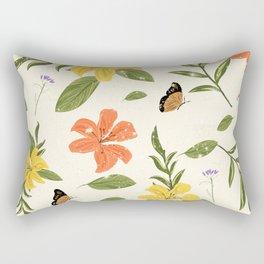 Flowers & Butterflies Rectangular Pillow
