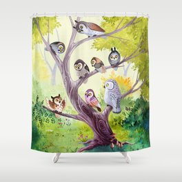 The Owl Story Shower Curtain