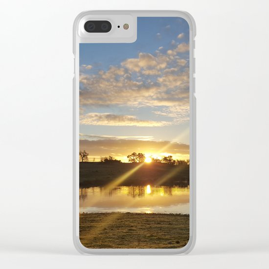 Inbetween Country and Paradise Clear iPhone Case