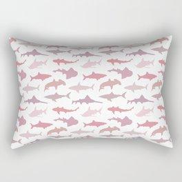 Pink Sharks Rectangular Pillow