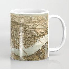Vintage Pictorial Map of Norfolk Virginia (1892) Coffee Mug