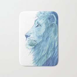 Blue Majestic Lion Bath Mat